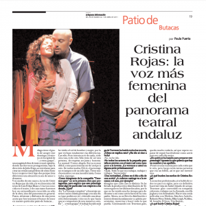 Cristina Rojas: la voz más feminina del panorama teatral andaluz