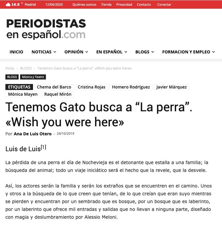 Periodista en español